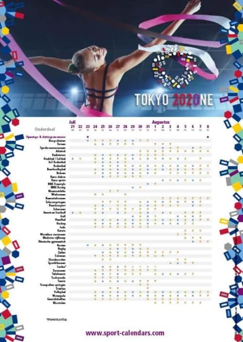 A4 - Tokyo Olympic Games ENGLISH - Sport-Calendars.com ...