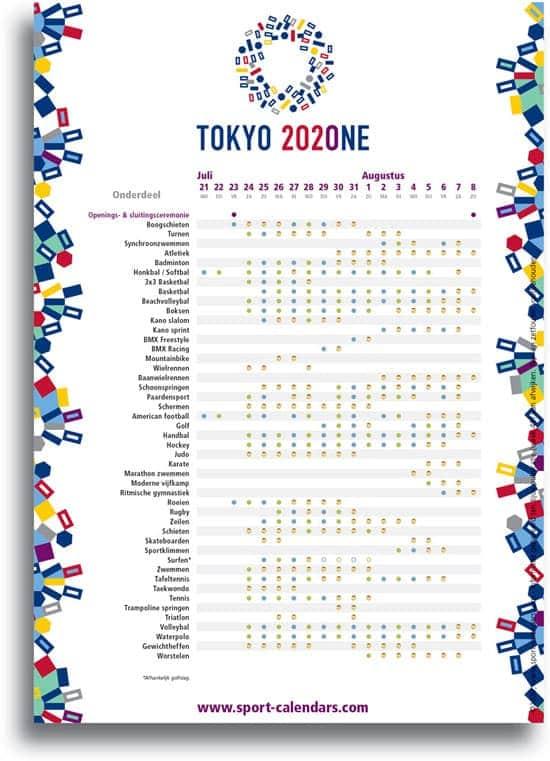 wedstrijd-programma-tokio-olympische-spelen